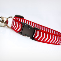 "Cat Collar - ""Little Red Corvette"" - Chevron Red"