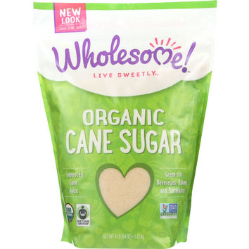 Wholesome Sweeteners Sugar - Organic - Turbinado - Raw Cane - 64 oz - case of 6