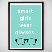 GIFT IDEAS / SALE / Glasses Glasses / Art Print / Home Decor / Apartment / Dorm Decor / Office / Cute / Hipster / College / Glasses / Nerd