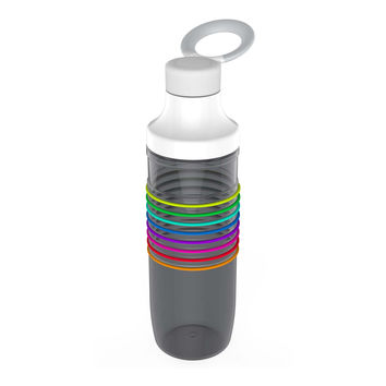 Water Intake Calculator Water Bottle in Dark Rainbow