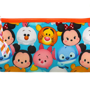 NEW Pencil Case | Tsum Tsum Zippered Bag | Zip Bag | Zip Pouch | Pencil Pouch | Inspired by Disney Bag