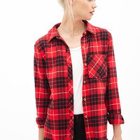 Plaid Flannel Button-Down