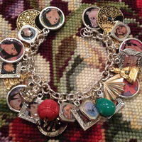 Disney's Mulan Altered Art Upcycled Charm Bracelet