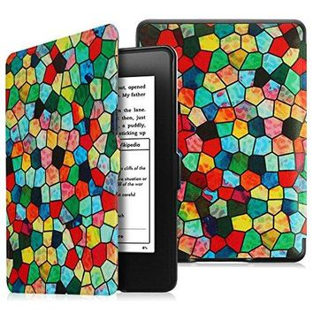 Fintie SmartShell Case for Kindle Paperwhite - The Thinnest and Lightest PU Leather Cover Auto Sleep / Wake for All-New Amazon Kindle Paperwhite (Fits All 2012, 2013, 2015 and 2016 Versions), Mosaic