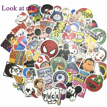 50pcs/lot On Laptop Stickers Decal Skin Covers mi notebook air For Guitar Skateboard Luggage Snowboard Fridge Motorcycle Sticker