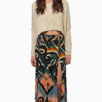 somedays lovin Tennessee Double Split Maxi Skirt $52