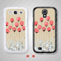 Samsung Galaxy S3 case, Samsung Galaxy S4 case, Poppies, Phone cases, Phone Covers - S0923