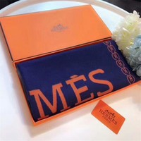 """Hermès"" Women Temperament Elegant Fashion Multicolor Horse Carriage Letter Pattern Cashmere Shawl Scarf"