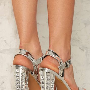 Heaven Knows Rhinestone Heel