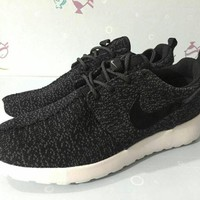 Nike Roshe Run Sport Casual Shoes Sneakers Black Size 36-44