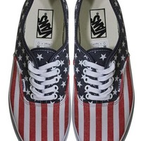 Vans Stars and Stripes Authentic Trainers - Buy Online at Grindstore.com