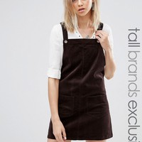 Glamorous Tall Corduroy Dunagree Dress With Pockets at asos.com