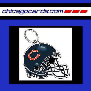 CHICAGO BEARS Acrylic Helmet Key Chain Backpack Gym NEW Factory Sealed