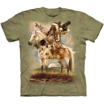 SPIRIT T-SHIRT by The Mountain Native American Indian Chief Tee NEW!