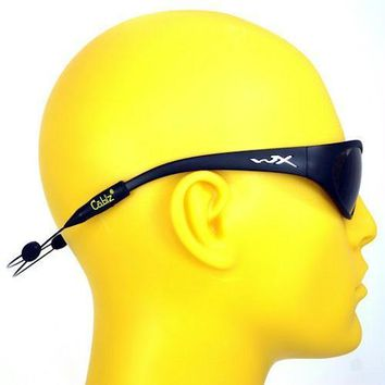 Cablz Zipz XL Adjustable Sunglasses Holder Black 14in