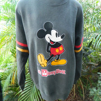 Mickey Mouse 1980s vintage grey sweatshirt - Disney size large