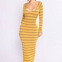 Say It Simply Dress - Mustard