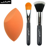 bb&cc makeup tools brush Kabuki Makeup Brush Set & kit Cosmetics Tool 3pcs/set makeup sponge Pro Foundation blush Liquid brush