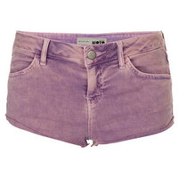 MOTO Lilac Acid Wash Hotpants