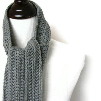 Gray Scarves For Men Man Scarf Stripe Masculine by MyHobbyShop