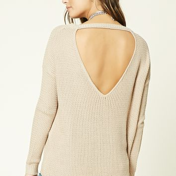 V-Cut Back Sweater