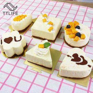 TTLIFE1PCS 3 Inch Stainless Steel Small Mousse Circle Push Plate Pressure Plate Rice Ball Sushi Tools Cake Biscuit Cutting Mold
