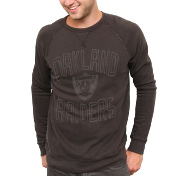 Junk Food Oakland Raiders Fleece Crew Sweatshirt - Black