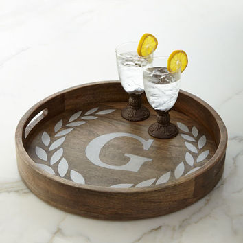 G G Collection Heritage Monogrammed Tray