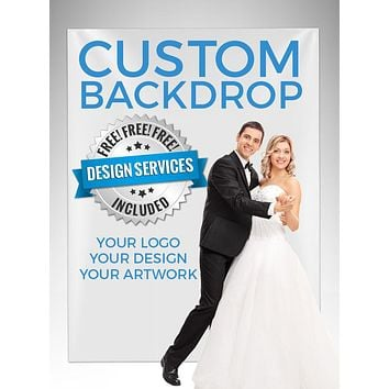 Custom Design Step And Repeat Backdrop (Perfect For Logo, Wedding Photo Booth Party, Red Carpet Or Event) - C000