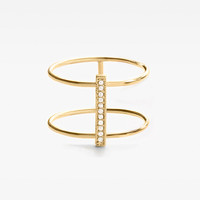 Double Stacked Diamond Line Ring