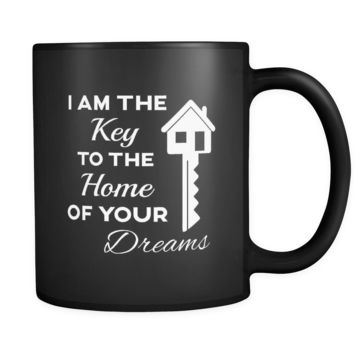 Real Estate I Am The Key 11oz Black Mug