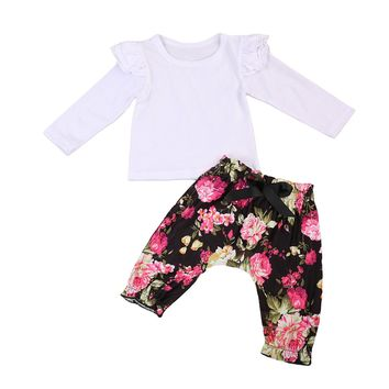 Baby Girls Floral ruffles  Lace Clothing Set