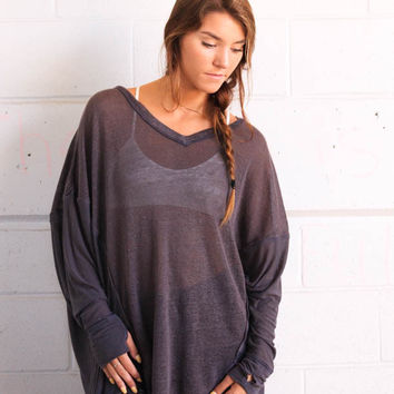 Free People Never Give Up Tee - Carbon