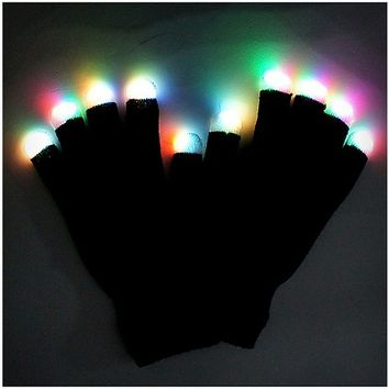 Black LED Light-Up Gloves - Spencer's