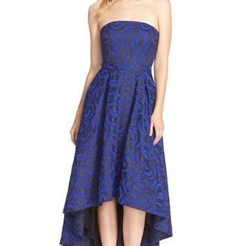 Women's JS Collections Jacquard High/Low Ballgown,