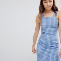 Daisy Street Pinafore Dress In Check at asos.com