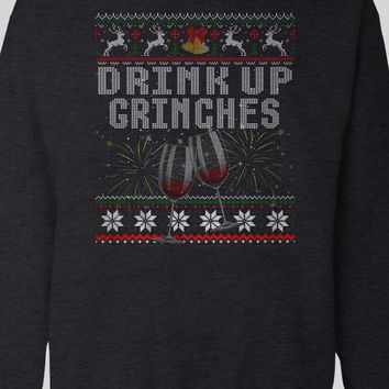 DRINK UP GRINCHES CHRISTMAS HOLIDAY SWEATER