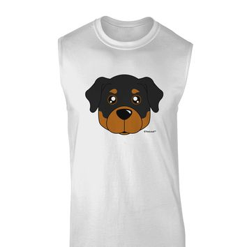 Cute Rottweiler Dog Muscle Shirt  by TooLoud