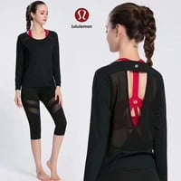 Lululemon Women Sport Yoga Stretch Tunic Shirt Top Blouse