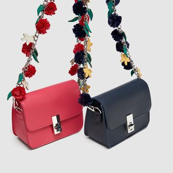 CROSSBODY BAG WITH STRAP DETAILDETAILS