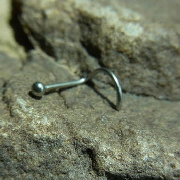 22gauge 316L Surgical stainless steel nose screw with 1.75mm ball