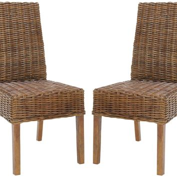 Sanibel Rattan Side Chair (Set Of 2) Light Brown