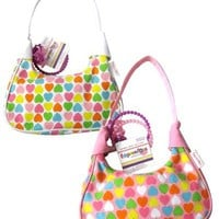 Expressions Girl / Heart Print Handbag with Accessories