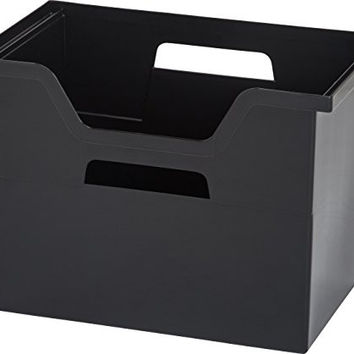 IRIS 4-Piece Desktop File Box, Large, Black