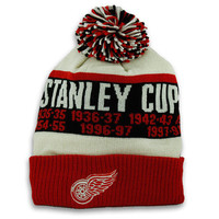 Detroit Red Wings Stanley Cup Cuffed Knit with Pom by CCM | DetroitAthletic.com