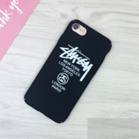 Black Stussy Print 7 7plus &6 6s Plus Cover Case