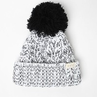 Neff Kaycee Fold Pom Beanie - Womens Hat - Black - One