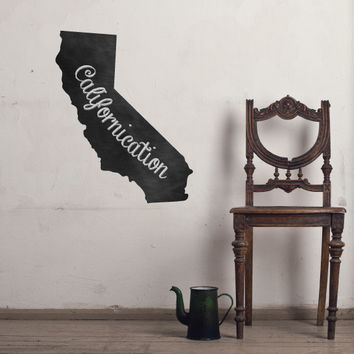 California Chalkboard State wall decal