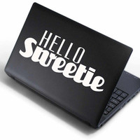 Hello Sweeite - Dr Who - Laptop Vinyl