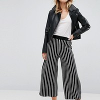 ASOS Knitted Culottes In Stripe at asos.com